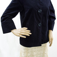 Black Stretch Velvet Jacket by Gap