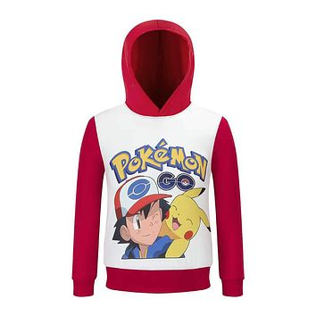 2017 Brand New pokemon go jacket kids Pikachu coat hooded children boy Outerwear Anime Cartoon Clothing Toddler Tops costume