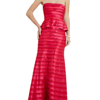 Bcbgmaxazria Rose Strapless Tiered Gown