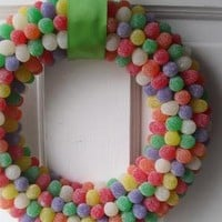 Rainbow Gumdrop Wreath by justpretty on Etsy