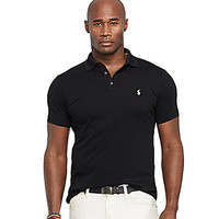 Polo Ralph Lauren Big & Tall Custom-Fit Stretch-Mesh Polo Shirt - Oasi