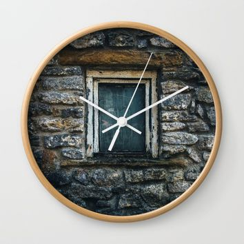 Who's That Peepin' In The Window? Wall Clock by Mixed Imagery