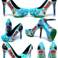 Adventure Time Heels hand painted  with by WickedAddiction on Etsy