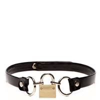 Black Leather Belt With Padlock Buckle by Rodarte - Moda Operandi