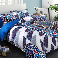 Brocade Floral Mandala Exotic Style Luxury 4-Piece Cotton Bedding Sets/Duvet Cover