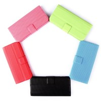 Magnetic Adsorption Folio Smart Flip Mobile Protective Cover Multifunctional Folding Holder Headphone Bobbin Winder for iPhone 5 Variety of Color Options