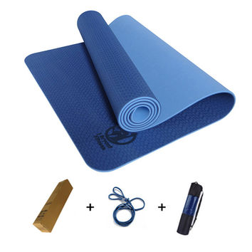Double Layers, Non-Slip, Yoga Mat with Bag and Rope