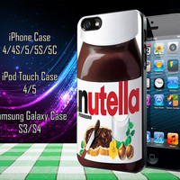 Nutella Samsung Galaxy S3/ S4 case, iPhone 4/4S / 5/ 5s/ 5c case, iPod Touch 4 / 5 case