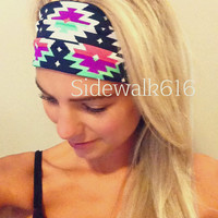 Tribal Headband Spandex Headband