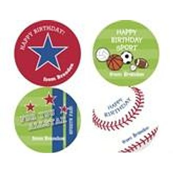 Sports Gift Personalized Stickers