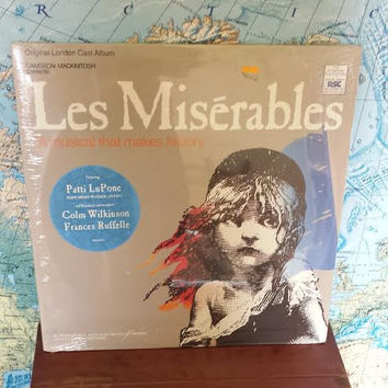 RARE Les Miserables 2 x LP Vinyl Record Set Original London Cast Album Still Sealed 88561-8140-1