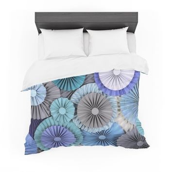 "Heidi Jennings ""Brunch at Tiffany's"" Aqua Blue Featherweight Duvet Cover"