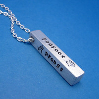 Harry Potter Inspired - The Marauders - A Hand Stamped Aluminum Bar Necklace