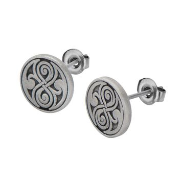 Doctor Who Seal of Rassilon Stud Earrings