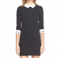 Women's Ted Baker London 'Currie' Lace Detail Knit Tunic Dress,