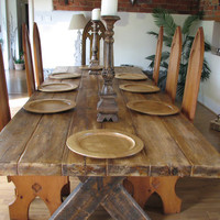 Industrial Style Demolition Large Dining Table