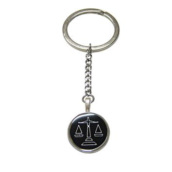 Black Scale of Justice Law Pendant Keychain