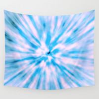 TIE DYE - LIGHT BLUE Wall Tapestry by Nika | Society6