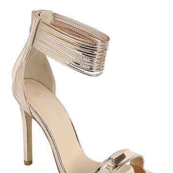 Rose Gold Sophisticated and Chic Peep Toe Heel