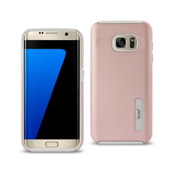 Samsung Galaxy S7 Edge Solid Armor Dual Layer Protective Case In Rose Gold