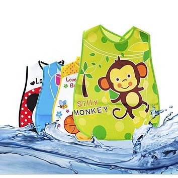 Cute Cartoon EVA Baby Bibs Waterproof Bandana Silicone Children Baby Bibs Boys Girls Infants Burp Clothes Feeding Care