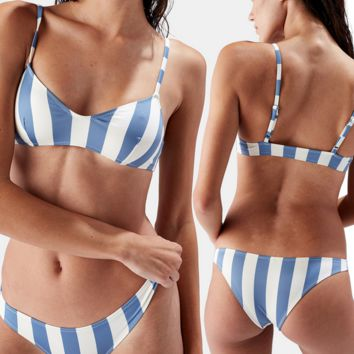 Striped Bikini Swimsuits Swimwear
