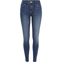 River Island Womens Mid wash Amelie reform superskinny jeans