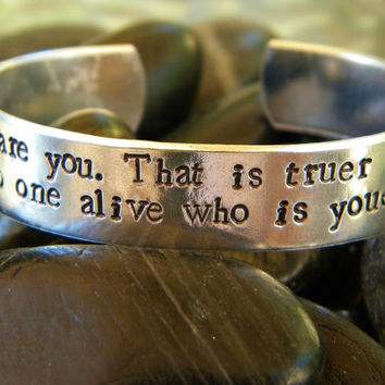 Dr. Seuss quote bracelet  Today you are you... by WordyWoman