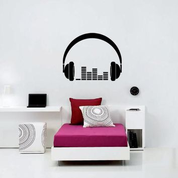 ik815 Wall Decal Sticker headphones bass music artist rock band star teens