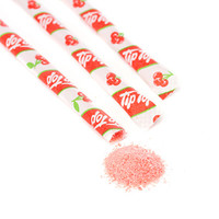 Tip Top Candy Powder Filled Mini Straws - Cherry: 50-Piece Bag