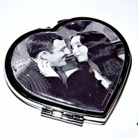 Morticia & Gomez heart mirror