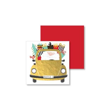 Taxi Santa Gift Enclosure Card