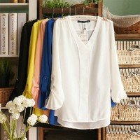 Womens Chiffon Blouse for Summer
