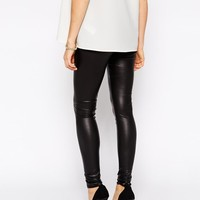 ASOS Maternity | ASOS Maternity Leather Look Legging at ASOS