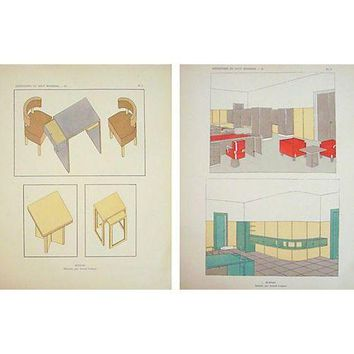 Pre-owned Paris Art Deco Furniture Sheets - A Pair