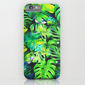 tropical plant iPhone & iPod Case by Sara Eshak