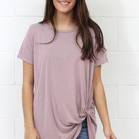Get Twisted Comfy Short Sleeve Basic {Mauve}
