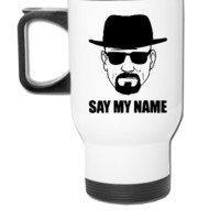 Breaking Bad: Say My Name T-shirt, - Travel Mug