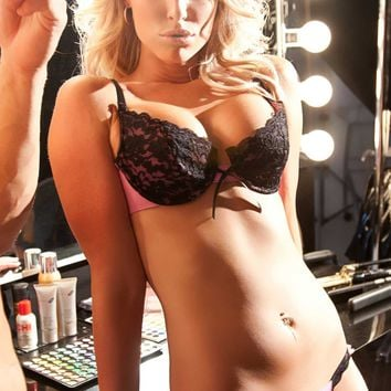 Soft Touch Vinyl and Brocade Coco Bra and Panty Set