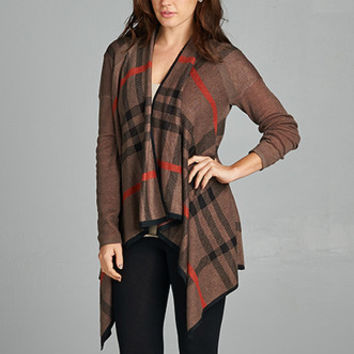 Plaid Prep Sweater - Brown