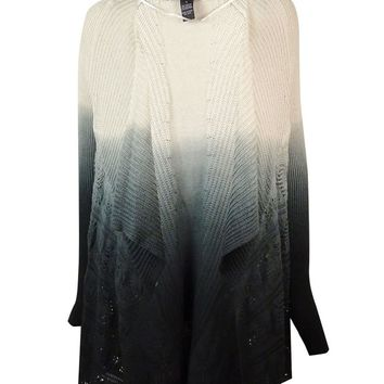 INC International Concepts Women's Ombre Pointelle Cardigan