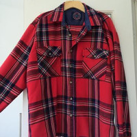 Vintage Flannel- Red