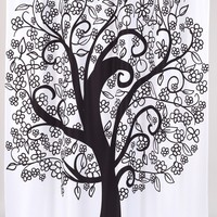Tree of Life Print Fabric Shower Curtain