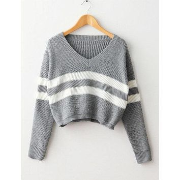 Pierre Pullover Crop Sweater