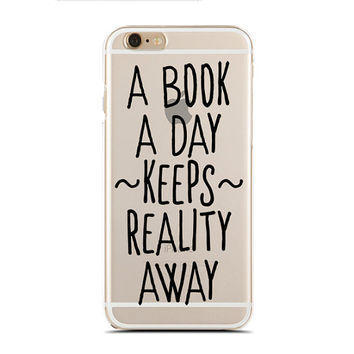 A book a day keeps reality away - Book nerd - Super Slim - Printed Case for iPhone - SC-055