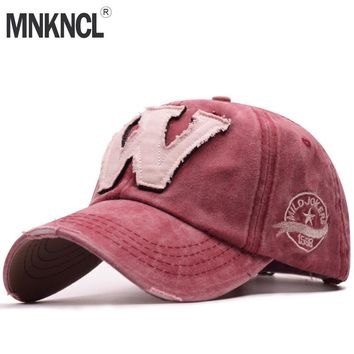 Trendy Winter Jacket MNKNCL High Quality W Embroidery Baseball Cap Snapback Caps Bone Casquette Hat Distressed Wearing Fitted Hat For Men Custom Hats AT_92_12