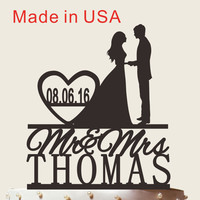 Mr and Mrs Cake Topper With Surname, Personalized Cake Topper, Personalized Cake Topper,Wedding Cake Topper, Custom Cake Topper, CT055