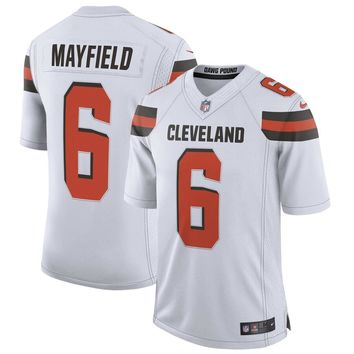 Men's Cleveland Browns Baker Mayfield Nike White Limited Jersey