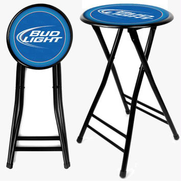 Bud Light 24 Inch Cushioned Folding Stool B.O.G.O.