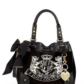 Juicy Couture Velour Handbags New Scottie Embroidery Daydreamer Bag